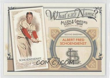 2012 Topps Allen & Ginter's What's in a Name? #WIN9 - Red Schoendienst