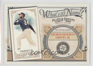 2012 Topps Allen & Ginter's What's in a Name? #WIN95 - Ken Griffey Jr.
