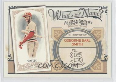 2012 Topps Allen & Ginter's What's in a Name? #WIN96 - Ozzie Smith