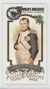 2012 Topps Allen & Ginter's World's Greatest Military Leaders Minis 2015 Buyback Framed 10th Anniversary Issue #ML-7 - Napoleon Bonaparte