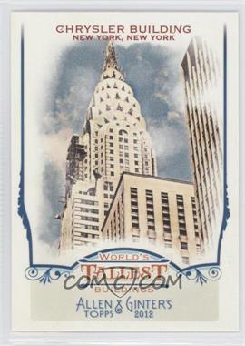 2012 Topps Allen & Ginter's World's Tallest Buildings #WTB7 - Chrysler Building