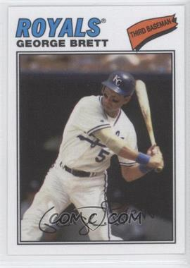 2012 Topps Archives - 1977 Cloth Patches #77C-GB - George Brett