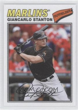 2012 Topps Archives - 1977 Cloth Patches #77C-MS - Giancarlo Stanton