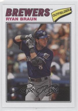 2012 Topps Archives - 1977 Cloth Patches #77C-RB - Ryan Braun