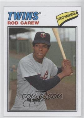 2012 Topps Archives - 1977 Cloth Patches #77C-RC - Rod Carew
