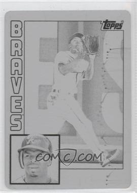 2012 Topps Archives - [Base] - Printing Plate Black #179 - Michael Bourn /1