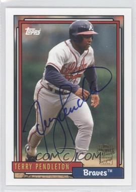 2012 Topps Archives - Fan Favorites - Certified Autograph [Autographed] #FFA-TP - Terry Pendleton