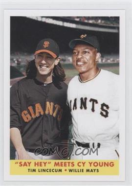 2012 Topps Archives 1958 Duos #58-LM - Tim Lincecum, Willie Mays