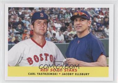 2012 Topps Archives 1958 Duos #58-YE - Carl Yastrzemski, Jacoby Ellsbury