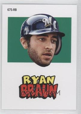 2012 Topps Archives 1967 Stickers #67S-RB - Ryan Braun