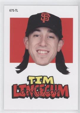 2012 Topps Archives 1967 Stickers #67S-TL - Tim Lincecum