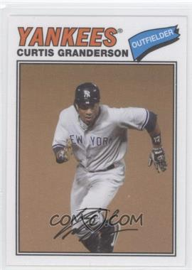 2012 Topps Archives 1977 Cloth Patches #77C-CG - Curtis Granderson