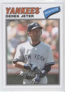 2012 Topps Archives 1977 Cloth Patches #77C-DJ - Derek Jeter