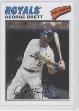 2012 Topps Archives 1977 Cloth Patches #77C-GB - George Brett