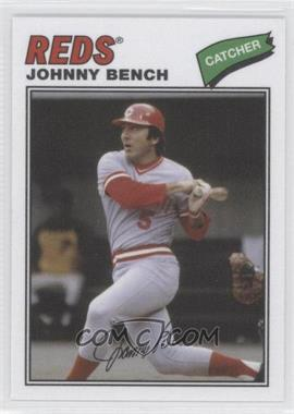 2012 Topps Archives 1977 Cloth Patches #77C-JB - Johnny Bench