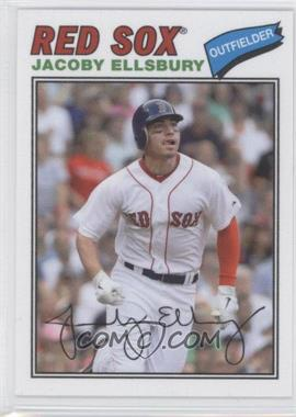 2012 Topps Archives 1977 Cloth Patches #77C-JE - Jacoby Ellsbury
