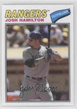 2012 Topps Archives 1977 Cloth Patches #77C-JH - Josh Hamilton