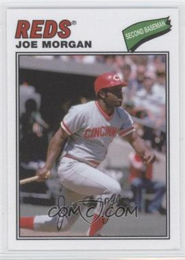 2012 Topps Archives 1977 Cloth Patches #77C-JM - Joe Morgan
