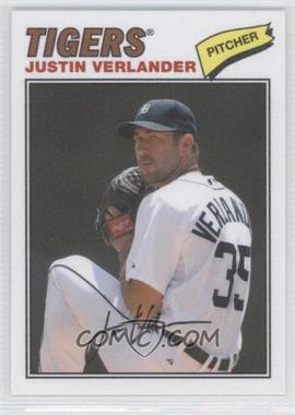 2012 Topps Archives 1977 Cloth Patches #77C-JV - Justin Verlander