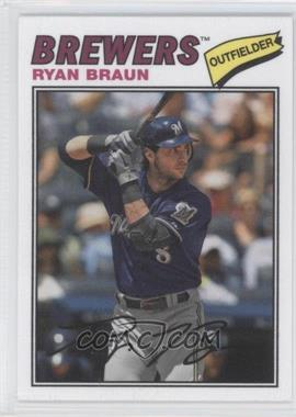 2012 Topps Archives 1977 Cloth Patches #77C-RB - Ryan Braun