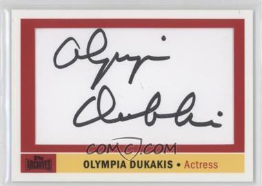 2012 Topps Archives Celebrity Cut Signatures #ACS-OD - Olympia Dukakis
