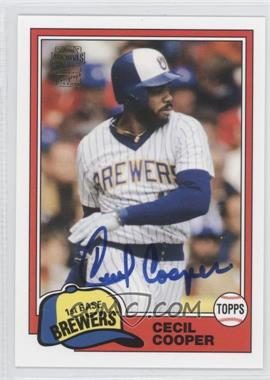2012 Topps Archives Fan Favorites Certified Autograph [Autographed] #FFA-CC - Cecil Cooper