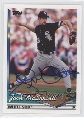 2012 Topps Archives Fan Favorites Certified Autograph [Autographed] #FFA-JMC - Jack McDowell