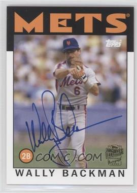 2012 Topps Archives Fan Favorites Certified Autograph [Autographed] #FFA-WB - Wally Backman