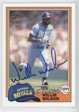 2012 Topps Archives Fan Favorites Certified Autograph [Autographed] #FFA-WW - Willie Wilson