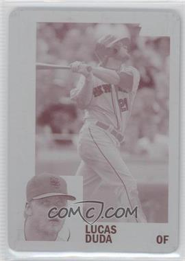 2012 Topps Archives Printing Plate Magenta #171 - Lucas Duda /1