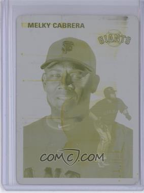 2012 Topps Archives Printing Plate Yellow #28 - Melky Cabrera /1