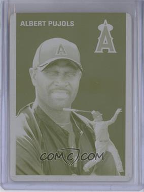 2012 Topps Archives Printing Plate Yellow #50 - Albert Pujols /1
