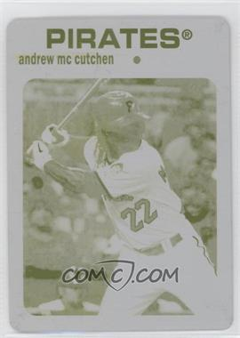 2012 Topps Archives Printing Plate Yellow #66 - Andrew McCutchen /1