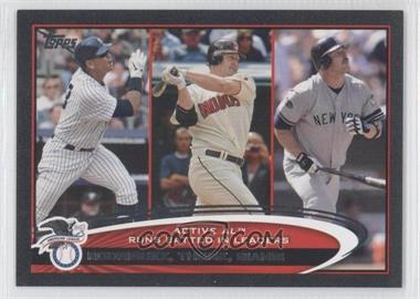 2012 Topps Black #324 - Jim Thome, Jason Giambi, Alex Rodriguez /61
