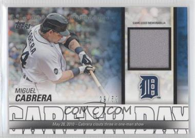 2012 Topps Career Day Relics #CDR-MC - Miguel Cabrera /50