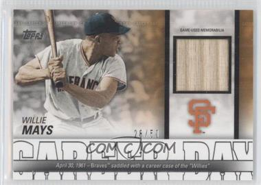 2012 Topps Career Day Relics #CDR-WM - Willie Mays /50