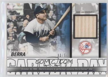2012 Topps Career Day Relics #CDR-YB - Yogi Berra /50
