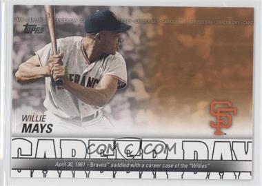 2012 Topps Career Day #CD-15 - Willie Mays