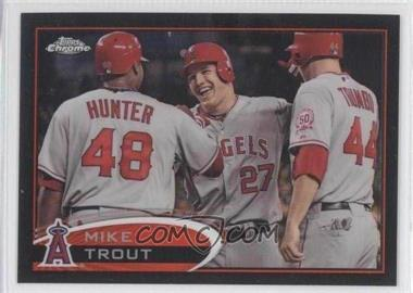 2012 Topps Chrome - [Base] - Black Refractor #144 - Mike Trout /100