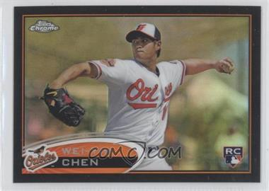 2012 Topps Chrome - [Base] - Black Refractor #188 - Wei-Yin Chen /100