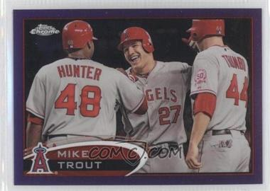 2012 Topps Chrome - [Base] - Retail Purple Refractor #144 - Mike Trout