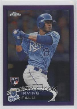 2012 Topps Chrome - [Base] - Retail Purple Refractor #200 - Irving Falu