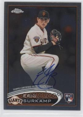 2012 Topps Chrome - Rookie Autograph #181 - Eric Surkamp