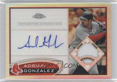 2012 Topps Chrome Autographed Patch Variations #20 - Adrian Gonzalez /10