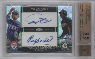 2012 Topps Chrome Dual Autographs #DA-DC - Yu Darvish, Yoenis Cespedes /10 [BGS9.5]