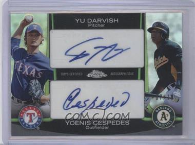 2012 Topps Chrome Dual Autographs #DA-DC - Yu Darvish, Yoenis Cespedes /10