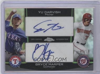2012 Topps Chrome Dual Autographs #DA-DH - Yu Darvish, Bryce Harper /10
