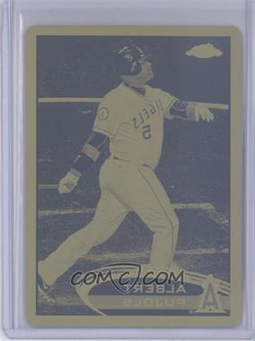 2012 Topps Chrome Printing Plate Yellow #80 - Albert Pujols /1