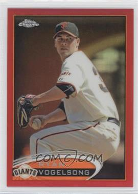 2012 Topps Chrome Red Refractor #138 - Ryan Vogelsong /25