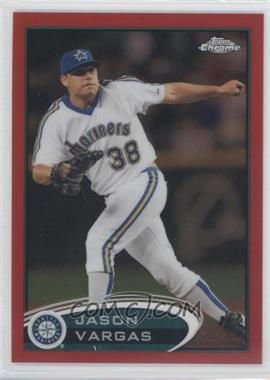 2012 Topps Chrome Red Refractor #218 - Jason Vargas /25